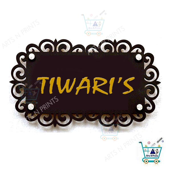 Tiwari's | Home Name Plaque